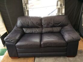 Quick sell - Dark blue leather sofa ** for sale **