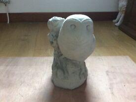 Concrete garden barn owl ornament