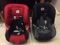 2 x Britax car seats (black and red) group 1