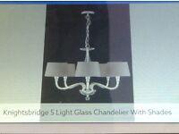 Next Knightsbridge 5 Light glass Chandelier.