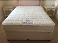 Double divan bed and mattress excellent condition