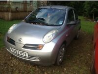 NISSAN MICRA SILVER 03 PLATE. GREAT LITTLE RUNAROUND. MASSES OF HISTORY