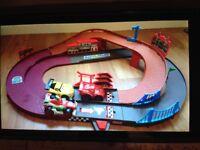 Fisher Price Cars Disney Pixar raceway with shake n play cars