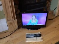 Luxor 12v HD lcd tv with freeview dvd usb combi camper caravan
