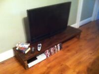 Thick top SHABBY CHIC RECLAIMED Rustic TV stand/Cabinet solid wood~SIDE DISPLAY TABLE