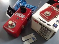 TC Electronic Hall of Fame HOF Mini reverb pedal, boxed, vgc + usb cable