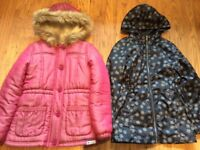 Girl winter Coat and Jacket age 9-10 year old in excellent condition.