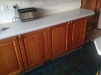 Kitchen Units Solid Cherry Wood doors ( not veneer ) and accessories