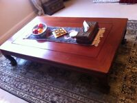 Vintage Rosewood Oriental Coffee Table, large, solid and beautiful!!
