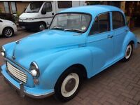 Morris minor 1000 1969 1 years mot free tax £1995