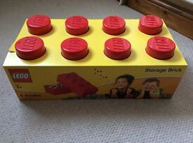 RED LEGO STORAGE BRICK