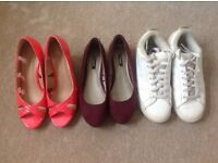 Three pairs of ladies shoes for sale