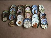 Large Collection of Porcelain Collectors Plates in Excellent Condition