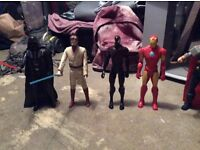 12 inch Marvel/DC/Star Wars figures all for sale.