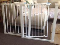 2 perfect condition white child gates