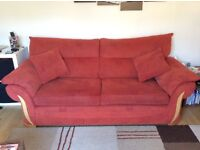 Three seater sofa and arm chair (Free)