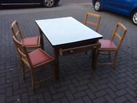 Table with Formica top and 4 chairs