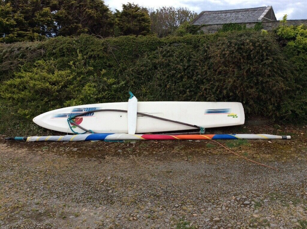 Windsurfer/paddle board ideal beginners/ family board with sail and dagger  board | in Portaferry, County Down | Gumtree