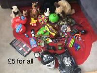 Children's various toys