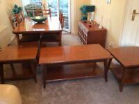 Set of 3 teak coffee tables