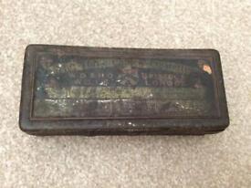 Antique cigarette tin
