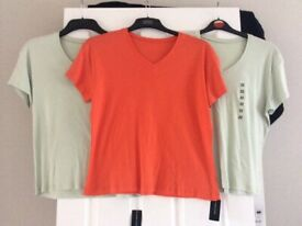 3 NEW V Neck Dunnes Stores Ladies T.Shirts Size 20/22 £4.00