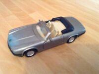A Vintage MC Toys 1980's Grey Jaguar XJS V12 Model Car Scale 1 : 40