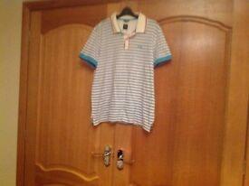 Hugo Boss regular fit men's collared tee shirt Size large