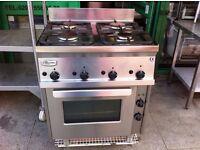 KITCHEN RESTAURANT FOUR BURNER COMMERCIAL SHOP COOKER FASTFOOD TAKEAWAY OVEN CATERING CAFE CUISINE