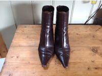 It breaks my heart to part with them. Genuine Jimmy Choo brown leather ankle boots. Size 37.5