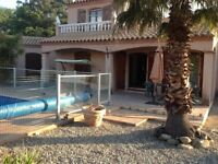 France Nr Ceret for rent Villa with private pool & garden Sleeps 7. .