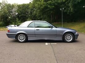 STUNNING ORIGINAL BMW 318i INDIVIDUAL CONVERTIBLE WITH FACTORY HARDTOP(FULL LEATHER, 1 YEAR MOT)