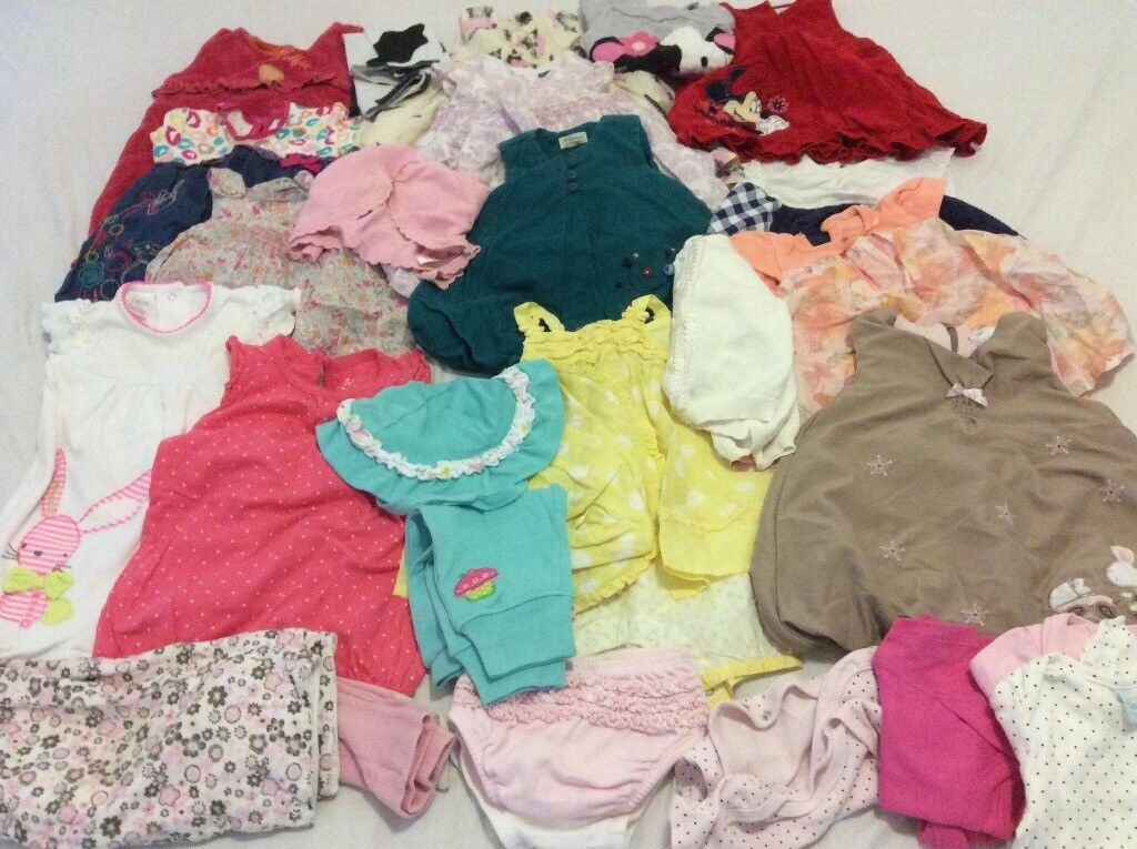 Baby girl clothes bundle 0-6 months 60 items
