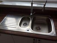 New 1 1/2 Stainless Steel kitchen sink