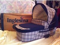 Inglesina Baby Carrycot - hood, mattress, handles, remo. cover,