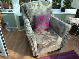 Bargain, high back fireside arm chair, deep and wide seat, excellent condition