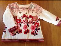 Girls Knitted Lined Jacket - BNWT