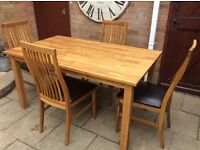 All Oak Dining Table And Chairs.