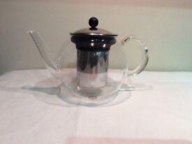 Bodum Shin Cha 34 ounce press clear glass hand made teapot, £20