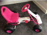 Girls Milan pink go kart