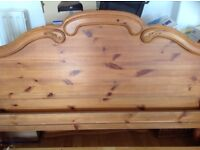 Pine double bedframe