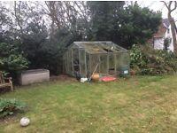 Aluminium frame Greenhouse size 10 ft x 10 ft