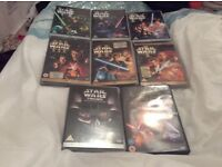 Large bundle of stars Wars dvds all in excellent condition