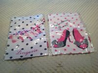 Satin storage/holiday packing bags for Shoes and longerie. 38cm x 26cm. Never opened.