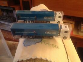 MINT CONDITION PAIR OF CHRISTIAN SALVESEN TOY LORRIES