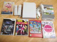NINTENDO Wii BUNDLE INCLUDING 5 GAMES