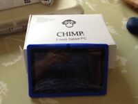 chimp 7inch pc blue for childs use. ideal as a first use hand held pc hardly been used