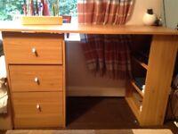 Small three drawer desk