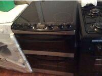 ceramic cooker new black 60 cm wide chrome finish