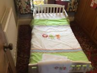 Toddler bed suitable 18 months to 4 years old. With instructions and alum key 140cm x 70